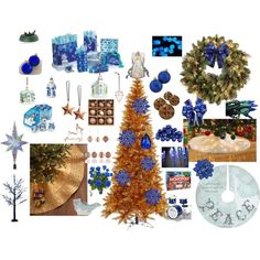 """Blue Copper Kitchen Tree"" by airandearth on Polyvore"