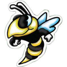 Bee Mascot Magnet from www.schoolspiritstore.com