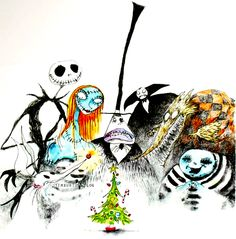 the nightmare before christmas concept art - Tim Burtons The Nightmare Before Christmas