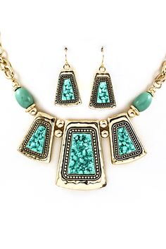 Turquoise Amara Necklace   Awesome Selection of Chic Fashion Jewelry   Emma Stine Limited