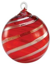 OG104 Red Platinum Twist Designer Ornament