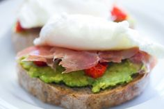Avocado Prosciutto Egg Toast - Mediterranean diet