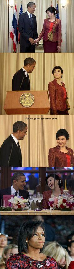 Funny President Obama Flirting Picture