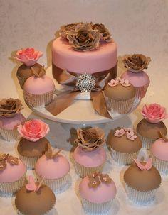 Flowers & Butterflies Cupcakes