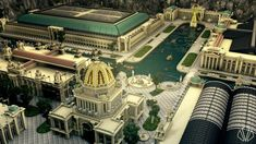 This project is a recreation of the Chicago World's Fair/Columbian Exposition that was held as a celebration to honor Columbus' voyage. Chinese Architecture, Islamic Architecture, Historical Architecture, World's Fair, Minecraft Building Guide, Ancient Greek City, World's Columbian Exposition, Urban Design Plan, Rome