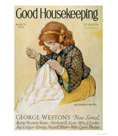 Good Housekeeping magazine cover, March 1926 Jessie Willcox Smith