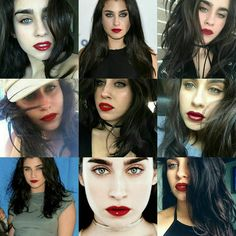 Lauren with red lips