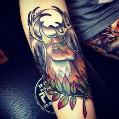 #deer #stag #tattoo