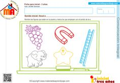 06 sonido inicial vocal e Constancia Perceptual, Einstein, Map, 3 Year Olds, Homeschool, Reading Comprehension, Activities For Kids, Kids, Location Map