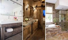 30 Awesome Ideas to Add Rustic Style To Bathroom