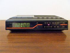 Vintage 1980s Mitsubishi Electric AWA AM/FM Clock Radio Cassette Tape Player / Retro Clock Radio Alarm Clock / Bedside Tape Player by V1NTA6EJO