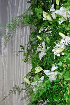 a floral wall #weddingideas