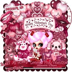 Sweet As Honey Creationz: New Kit!! - Lovable Pink Valentine!!