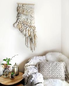 Tassle and Twine, Woven Wall Hanging, Tapestry, Weaving by CrossingThreadsAUS on Etsy https://www.etsy.com/ca/listing/273944416/tassle-and-twine-woven-wall-hanging