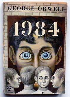 French Edition of Orwell's 1984 Le Livre de Poche - Paris, 1966 couverture : MIchel Siméon