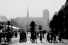 Notre-Dame et place de l'Hôtel de Ville, Paris.  Photo Serge Sautereau (www.serge-sautereau.com)