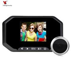 """Yobang Security 3""""LCD Wide Angle Visual Monitor Smart Digital Camera Video Door Eye Door Peephole Viewers 2000,000pixels"""