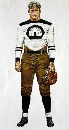 NFL Football Uniform 1930s by Merv Corning