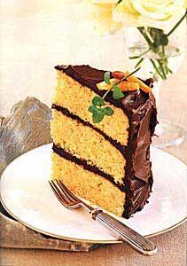 Orange-Almond Cake with Chocolate Icing Recipe  at Epicurious.com