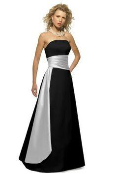Black and ice silver bridesmaid dress, if it was Navy blue and ice silver....perfect