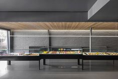 Colourful pastries are displayed in glass units against monochromatic backdrop in Montreal patisserie by designers Atelier Moderno and Anne Sophie Goneau Design Blog, Deco Design, Cafe Design, Bakery Design, Design Ideas, Commercial Interior Design, Interior Design Studio, Commercial Interiors, Bakery Interior
