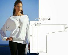 Moda e Dicas de Costura: BLUSA FÁCIL DE MODELAR E COSTURAR