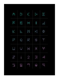 A new geometric font inspired by Dubstep.