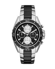 Jetmaster 45mm Stainless Steel Chronograph Watch, Women's, BLACK - Michael Kors