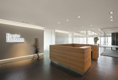 Ferrier Hodgson Melbourne Office. Reception area design. Reception desk.