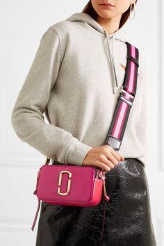 Marc Jacobs - Snapshot Textured-leather Shoulder Bag - Fuchsia