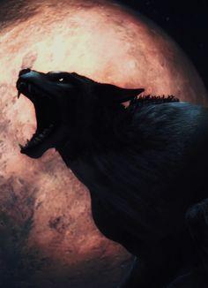 Blood moon werewolf