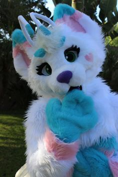 It looks like a Trans flag furry