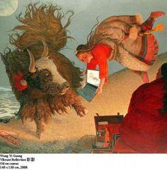 Vibrant Reflection by Wang Yi Guang