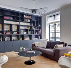 Library Inspiration, Living Room Inspiration, Wall Storage, Home Office Design, Room Colors, Victorian Homes, Living Room Designs, Bookcase, Modern
