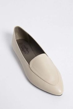 $10 Faux Leather Pointed Nude Loafers #ad