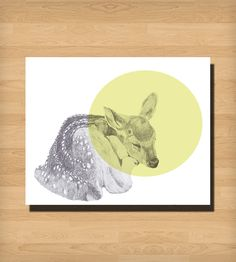 Sleeping Deer Print | Art Prints | Morgan Kendall Art | Scoutmob Shoppe | Product Detail