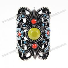 Wholesale Retro Style Faux Gem Embellished Owl Shape Women's Ring (AS THE PICTURE,ONE SIZE), Rings - Rosewholesale.com