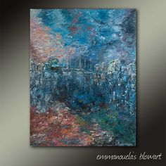Back Painting, City Painting, Painting Edges, Your Paintings, Acrylic Paintings, Abstract City, Palette Knife Painting, Acrylic Colors, Acrylic Pouring