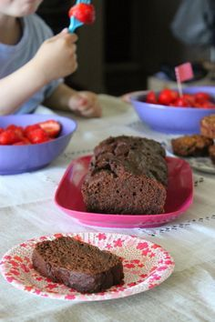 Cake au chocolat et au tofu soyeux (sans œuf ni beurre) - La cuisine d'Anna et Olivia