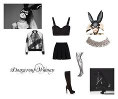 """""""Ariana Grande Dangerous Woman Inspired Outfit♡"""" by kaylalovesowls ❤ liked on Polyvore featuring Alexander Wang, Christian Louboutin, Alice + Olivia, Topshop, Leg Avenue and Lane Bryant"""