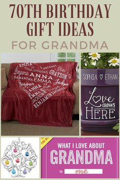 70th Birthday Ideas For Grandma