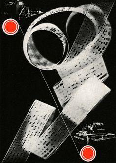 Piet Zwart, Design for an advertisement with photogram, 1929