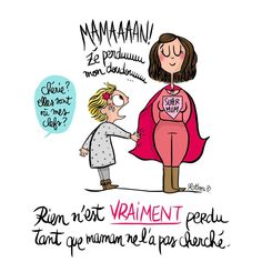 Super Mum is back Funny Christmas Cards, Lol, French Quotes, Funny Cards, Some Words, Positive Attitude, Kids And Parenting, Vignettes, Decir No