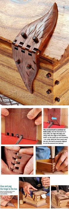 Plans of Woodworking Diy Projects - Wooden Box Hinges - Woodworking Plans and Projects | WoodArchivist.com Get A Lifetime Of Project Ideas & Inspiration! #woodworkingideas