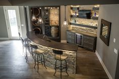 Still loving the stone under the counter  in this wine bar finish.  4741 NW Canyon Road, Lee's Summit, Missouri - Kansas City Artisan Home TourKansas City Artisan Home Tour