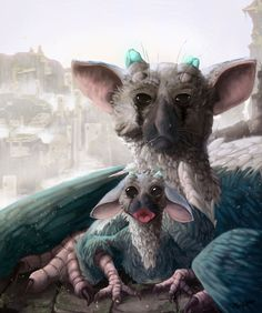 Trico + by LittleTeaPot on DeviantArt Fantasy Wolf, Fantasy Art, Easy Chibi Drawings, Game Character, Character Design, Turkey Bird, Shadow Of The Colossus, Griffins, Steampunk Clothing