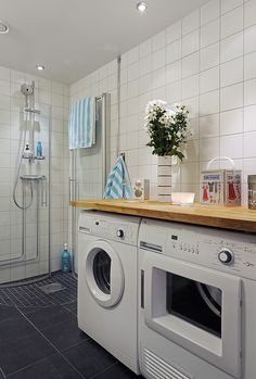 Laundry in bathroom possible idea for our new home