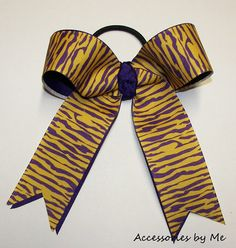 LSU Tigers Girls Purple Yellow Gold Cheer by accessoriesbyme, $12.99