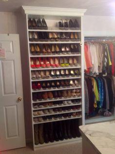 New Closet 2014 shoes Colorful Desk, Future House, Dressing, Shelves, Organization, Cleaning, Bedroom, Closet, Home Decor