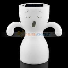 Smile Face Pattern LED Solar Energy Night Lamp (White) Price: $14.84